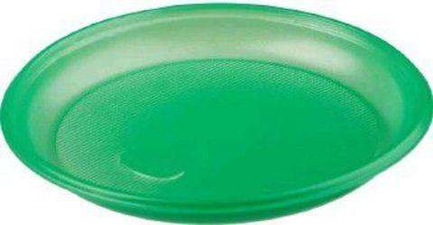Тарелка одноразовая десертная пластиковая ЭКО (зелёная) D=165 мм