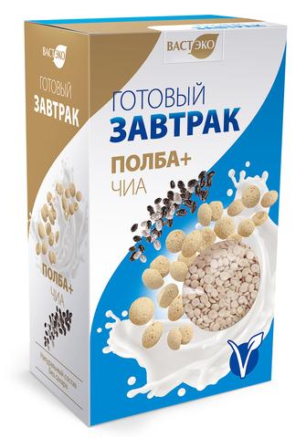 Готовый завтрак Полба+Чиа хлопья мини, 200 гр. (ВАСТЭКО)