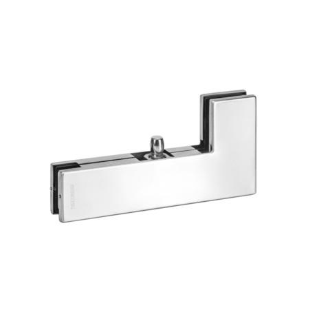 FS-F40 SSS (AISI 304) Фитинг угловой верхний для стеклянных дверей толщиной 10, 12 мм. Notedo