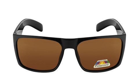 Очки с коричневыми поляризованными линзами  Артикул: А02. Вид фас.Входят в комплект