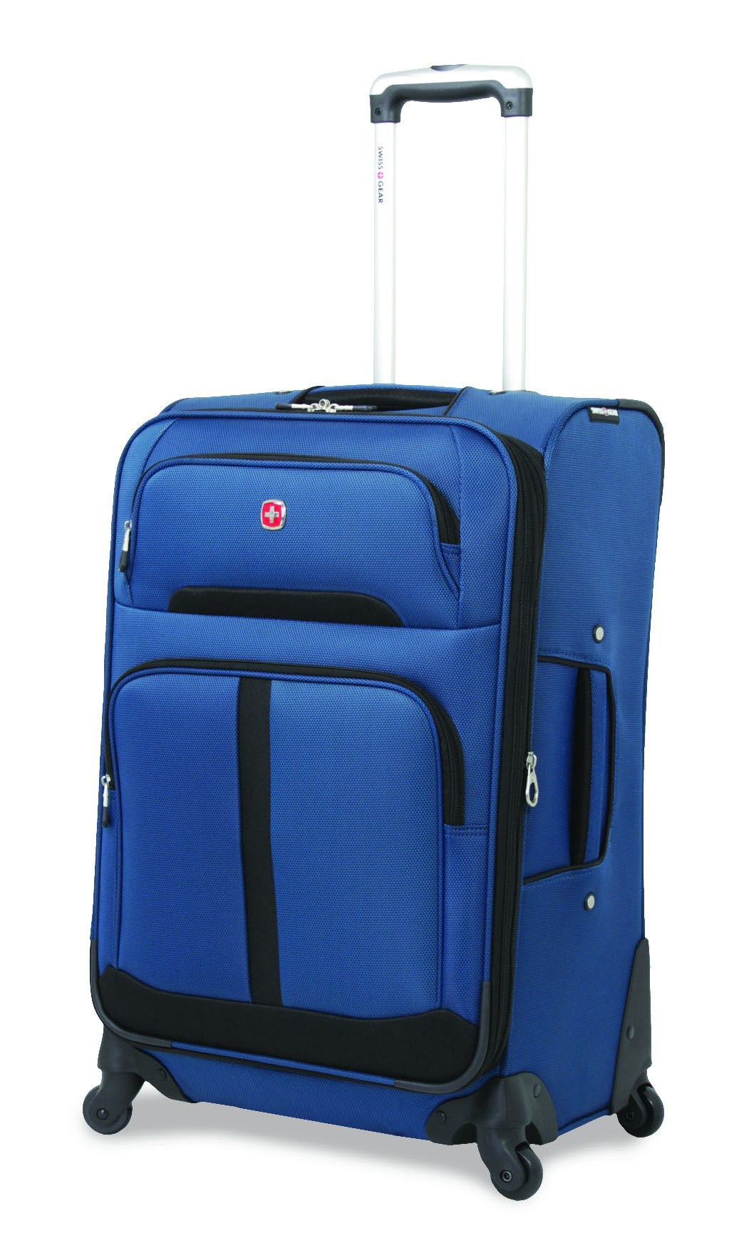 Чемодан SWISSGEAR ANDES, цвет синий/чёрный, полиэстер 48,5x28x77 см, 88 л  (6195302177)