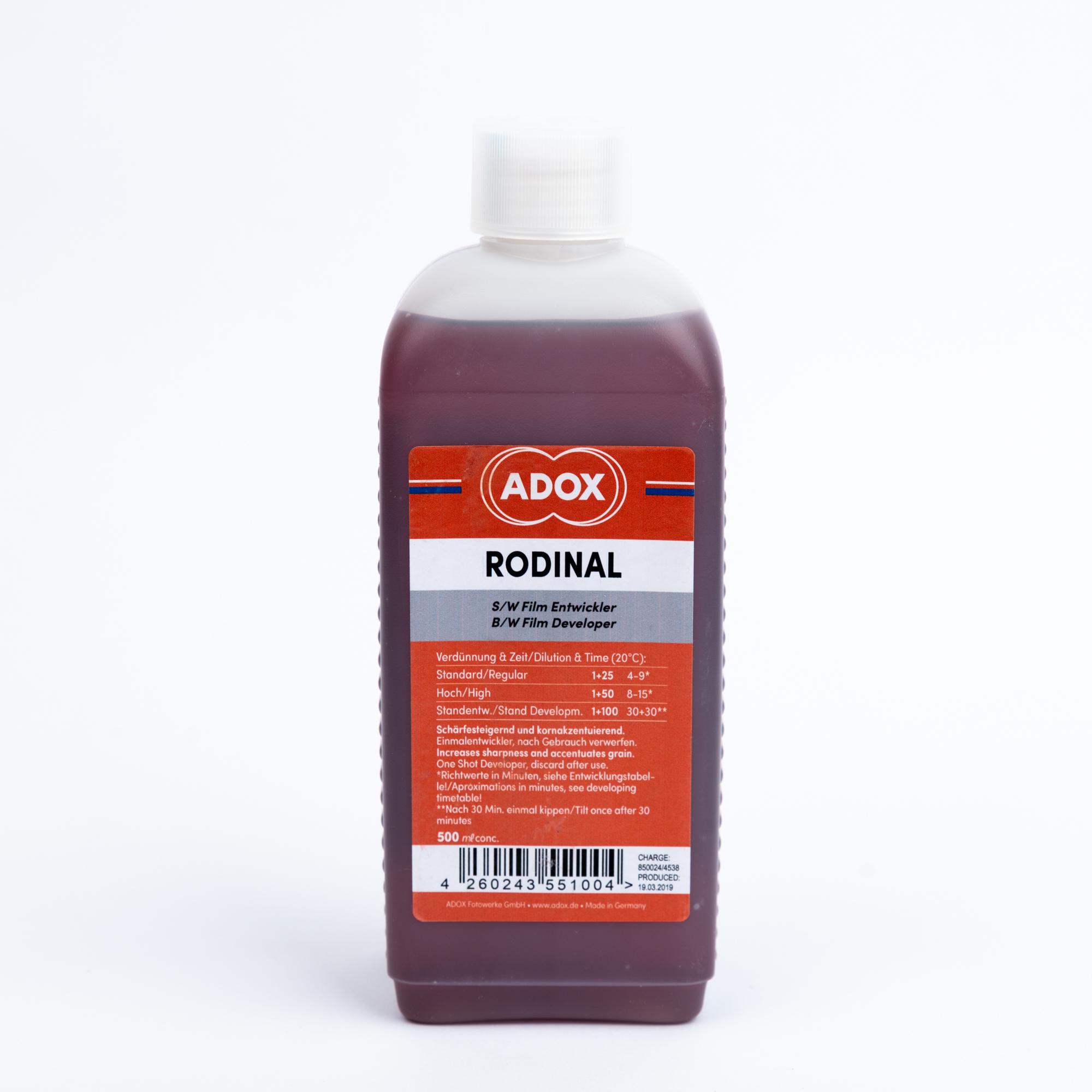 Проявитель ADOX RODINAL 500мл (концентрат)