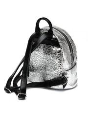 Рюкзак серебрянного цвета с контрастными ремнями