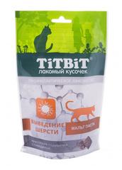 Лакомство для кошек TitBit, хрустящие подушечки, с говядиной для выведения шерсти