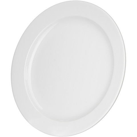 Тарелка обеденная Башкирский фарфор белая 200 мм (артикул производителя ИТМ 03.200)