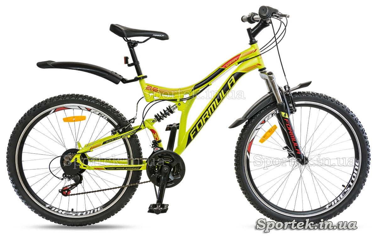 Горный мужской велосипед Formula Safari 2018 (Формула Сафари) салатно-оранжевый