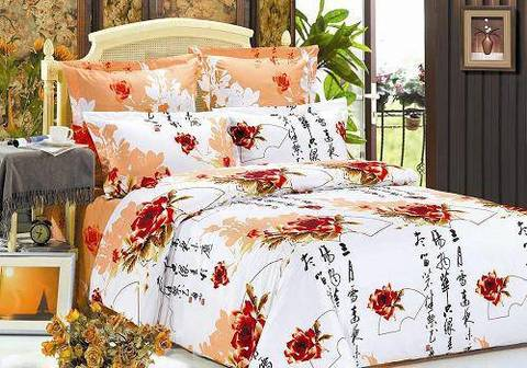 Сатиновое постельное бельё  2 спальное  В-78