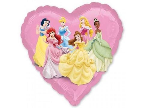 Фольгированный шар сердце Принцессы