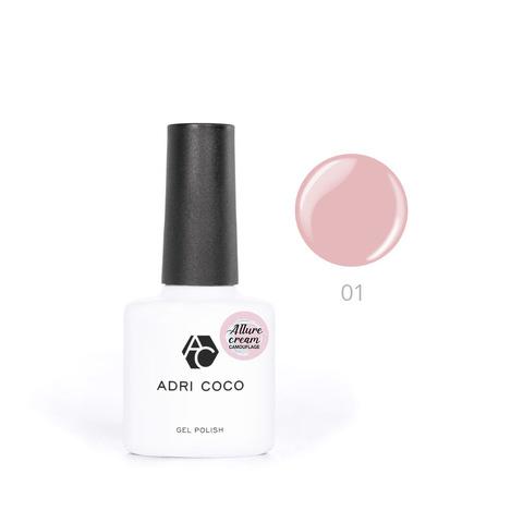 Гель-лак ADRICOCO Est Naturelle №01 камуфлирующий розовый (8 мл.)