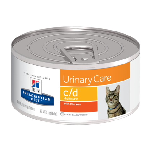 Hill's Prescription Diet C/D Консервы для кошек при МКБ с курицей (Банка)