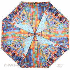 Компактный зонт автомат Lamberti 4 сложения абстрактный город