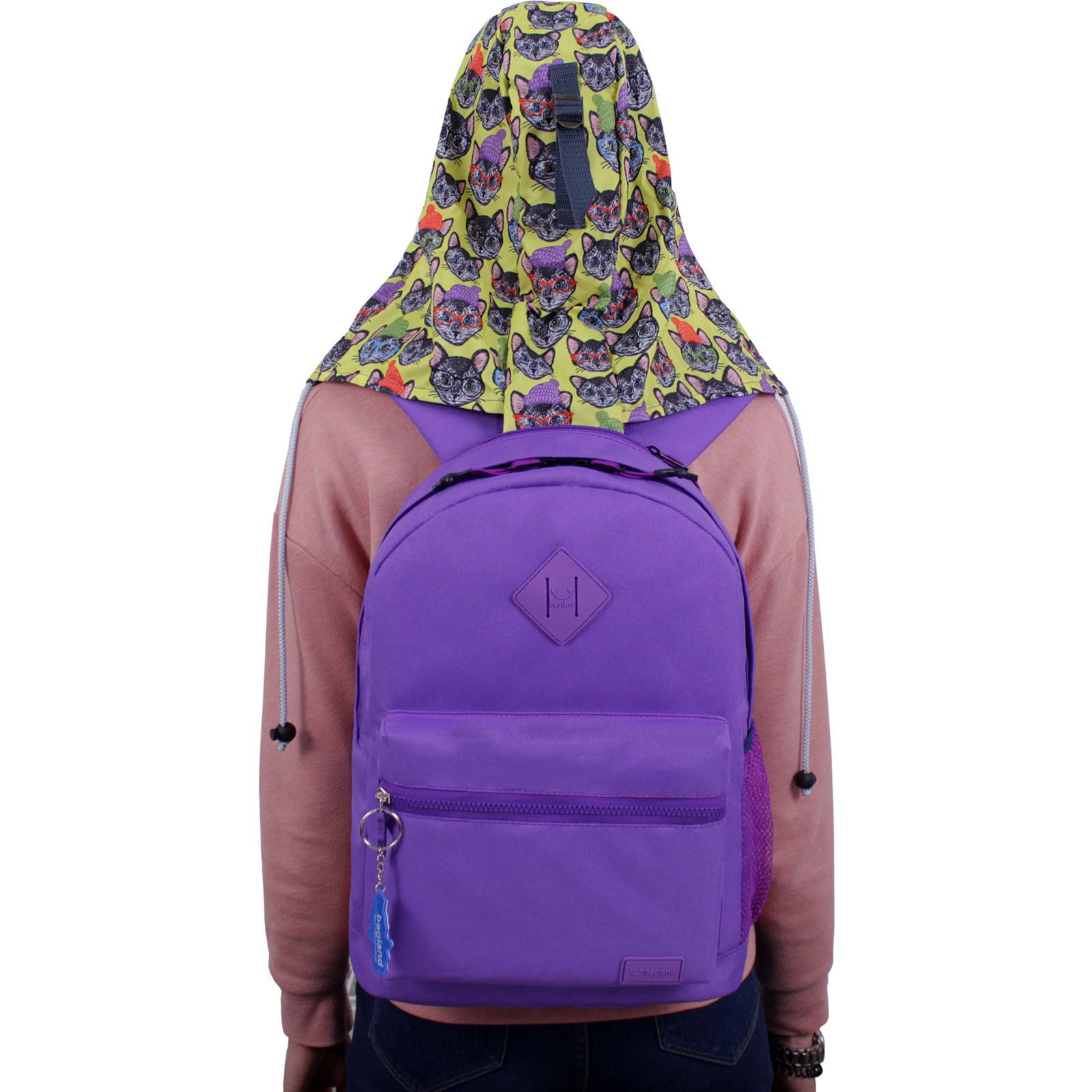 Рюкзак Bagland Hood W/R 17 л. фиолетовый 469 (0054466) фото 6