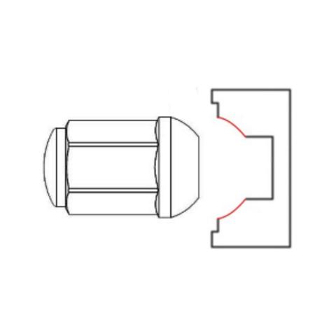 Гайка колёсная М14x1.5 длина=32мм ключ=19 закрытая сфера SR14 хром