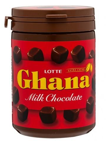 Шоколад ГАНА молочный в банке,  Lotte, 118 гр.