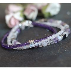 Тонкий браслет из самоцветов Виолет