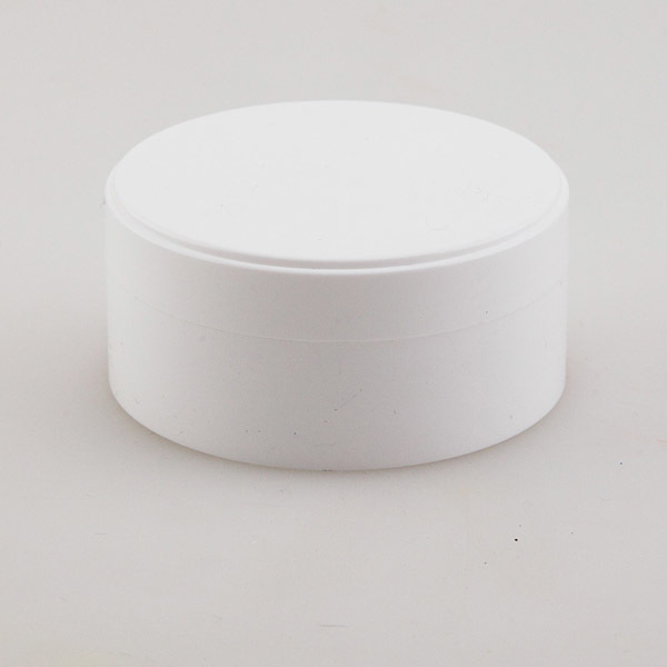 Банка для косметики белая плоская