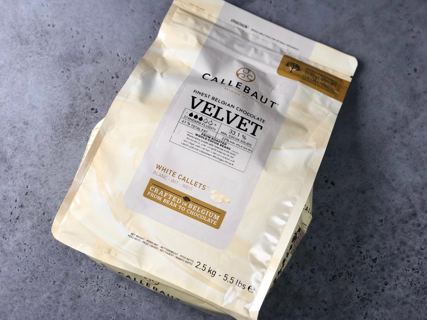 Шоколад белый Barry Callebaut Velvet 32%, 2,5 кг