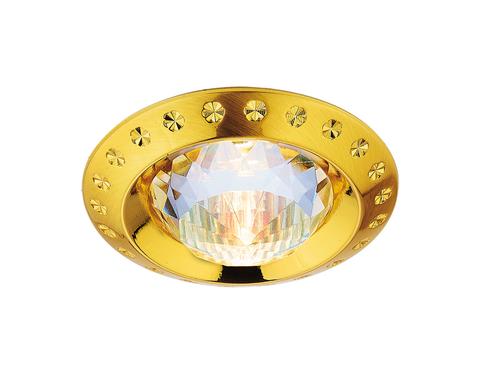 Встраиваемый точечный светильник 777 GD золото MR16