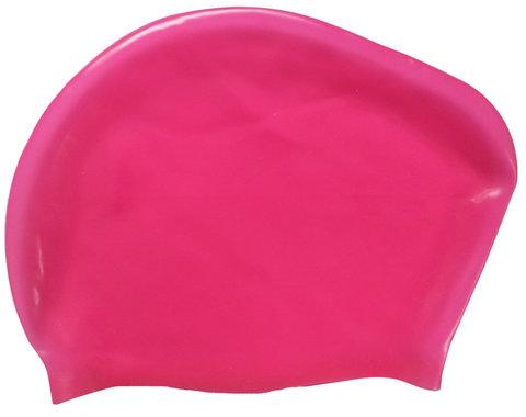 Шапочка для плавания силиконовая Dobest для длинных волос KW40 (розовый),