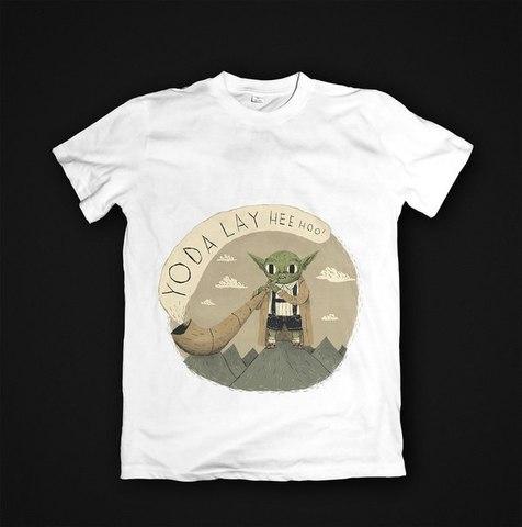 Футболка Yoda - M. Женская