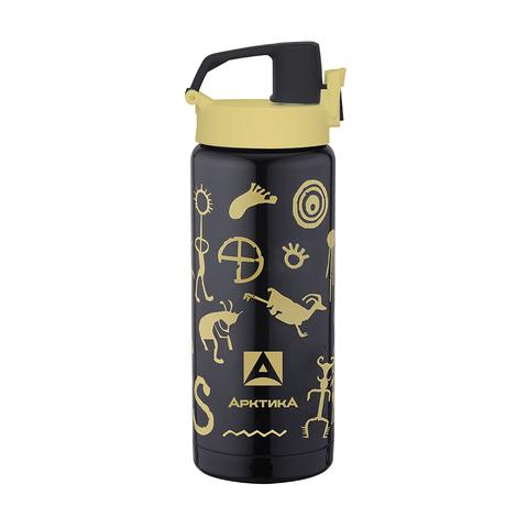 Термос сититерм-вакуумный Арктика (702-500 черный вуду) 0,5 литра, черный вуду