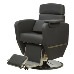 Парикмахерское кресло Алонсо гидравлика хром, круг хром со съемным столиком и подушкой
