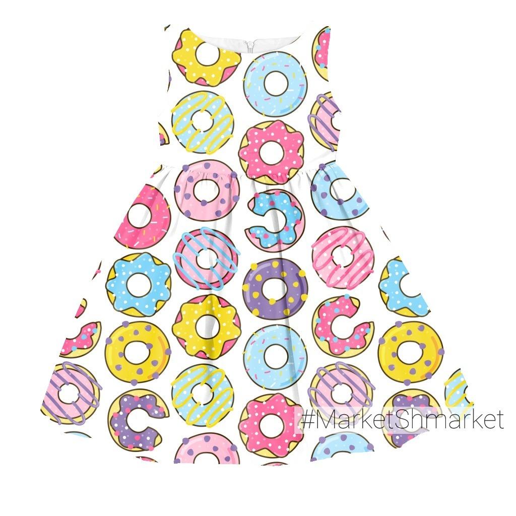 Весёлые пончики на белом