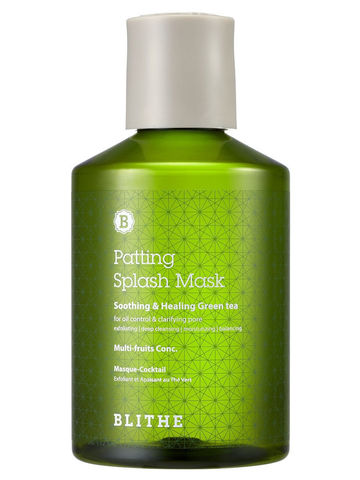 Восстанавливающая Сплэш-Маска С Зелёным Чаем  BLITHE Patting Water Pack Soothing & Healing Green Tea