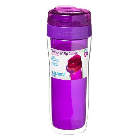 Термокружка Sistema 490 мл, цвет Фиолетовый