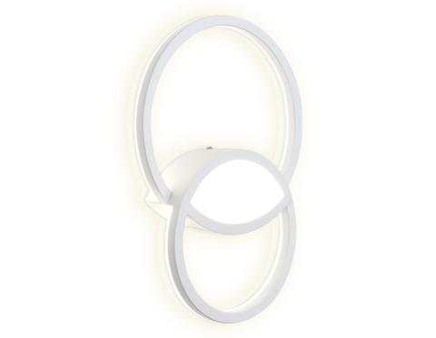 Настенный светодиодный светильник FL411 WH белый LED 4200K 28W 320*230*50