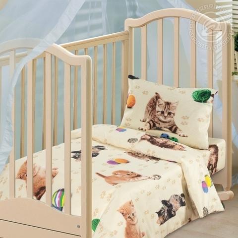 Детское постельное бельё Усатый-полосатый БЯЗЬ ЯСЕЛЬНАЯ
