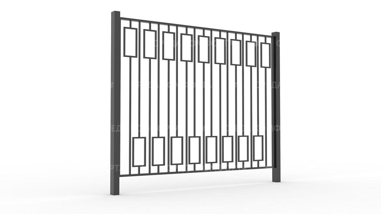 Забор из профильной трубы ZBR0165