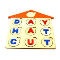 Английский алфавит на кружках, пример игры