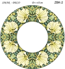 Эскиз для росписи, Зеркало диаметр-45см, SMAR-ZBK-2