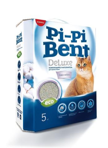 Наполнитель комкующийся PI-Pi-Bent DeLuxe Clean Cotton lumps Litter