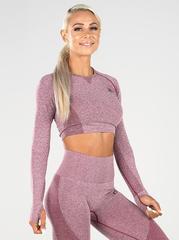 Женский топ Ryderwear Seamless Long Sleeve Crop -Charcoal Marle