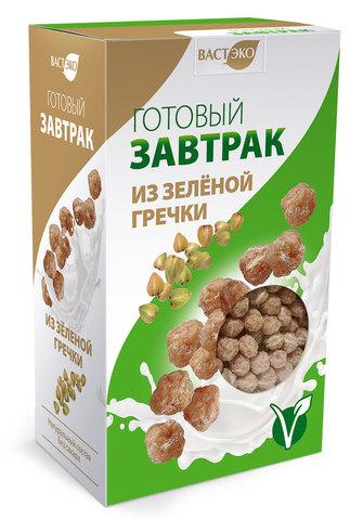 Готовый завтрак из Зеленой гречки шарики, 170 гр. (ВАСТЭКО)