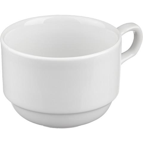 Чашка чайная Башкирский фарфор Браво белая 200 мл (артикул производителя ИЧШ 30.200)