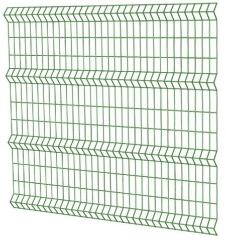 Сетка 2,0х2,5м  зеленая 6005 ППК  50х200мм / 3мм / 4Р  заборная 3D