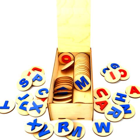 Деревянный алфавит (английский) Нейромаг 068