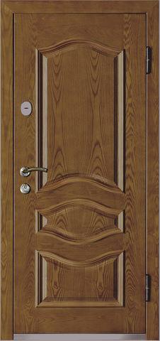 Дверь входная Monte Bello 386 стальная, орех, 2 замка