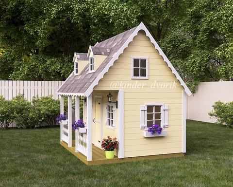 Деревянный детский домик на заказ москва