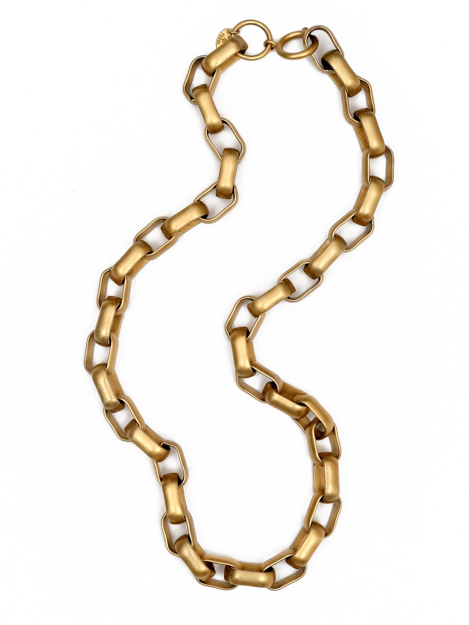 Массивная винтажная цепь E. Pearl