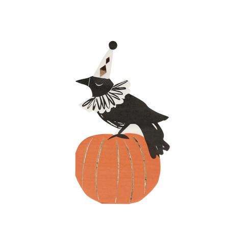 Салфетки в форме вороны