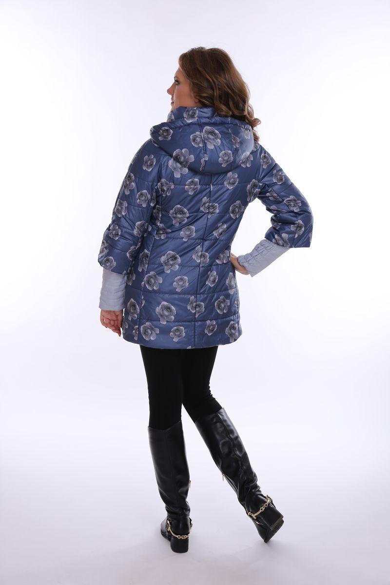 Куртка для беременных 07760 син/серые цветы