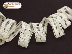 Резинка ажурная для повязок молочная ширина 16 мм