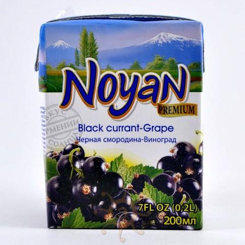 Нектар черносмородиновый с виноградом Noyan, 200мл