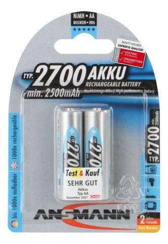Аккумулятор АА/NiMH ANSMANN 1.2V, 2700mAh