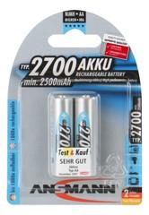 Аккумулятор АА/NiMH ANSMANN 1.2V, 2700mAh, 2шт