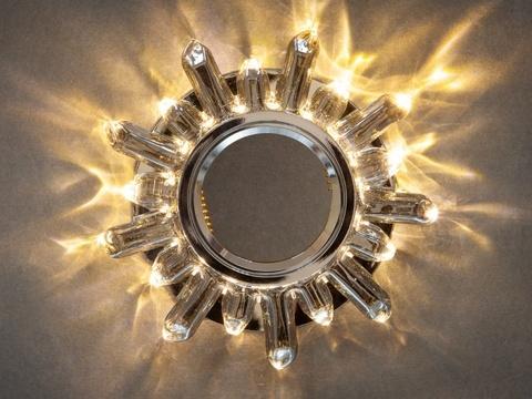 Встраиваемый Светильник GP-8113-3W-CPH Шампань+Диодная подсветка
